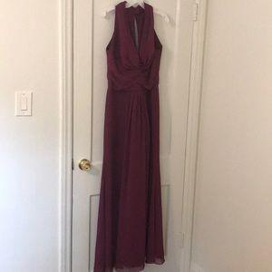David's bridal Merlot gown size 8/10